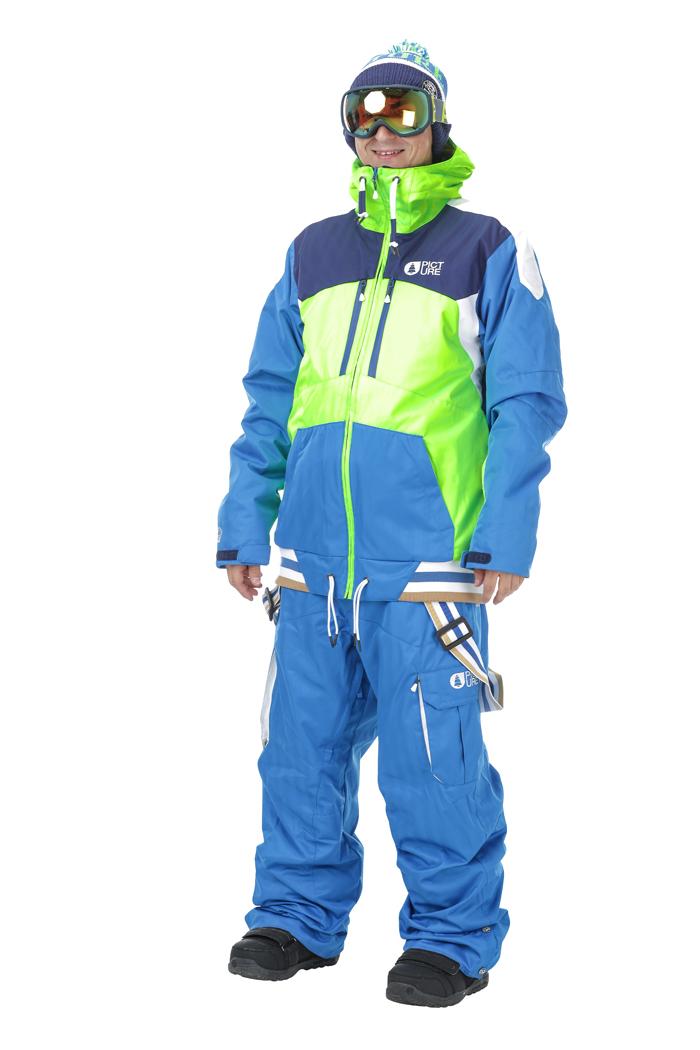Купить Куртка сноубордическая Picture Organic 2016-17 PANEL JACKET C Neon Green/Picture Blue Одежда 1306652