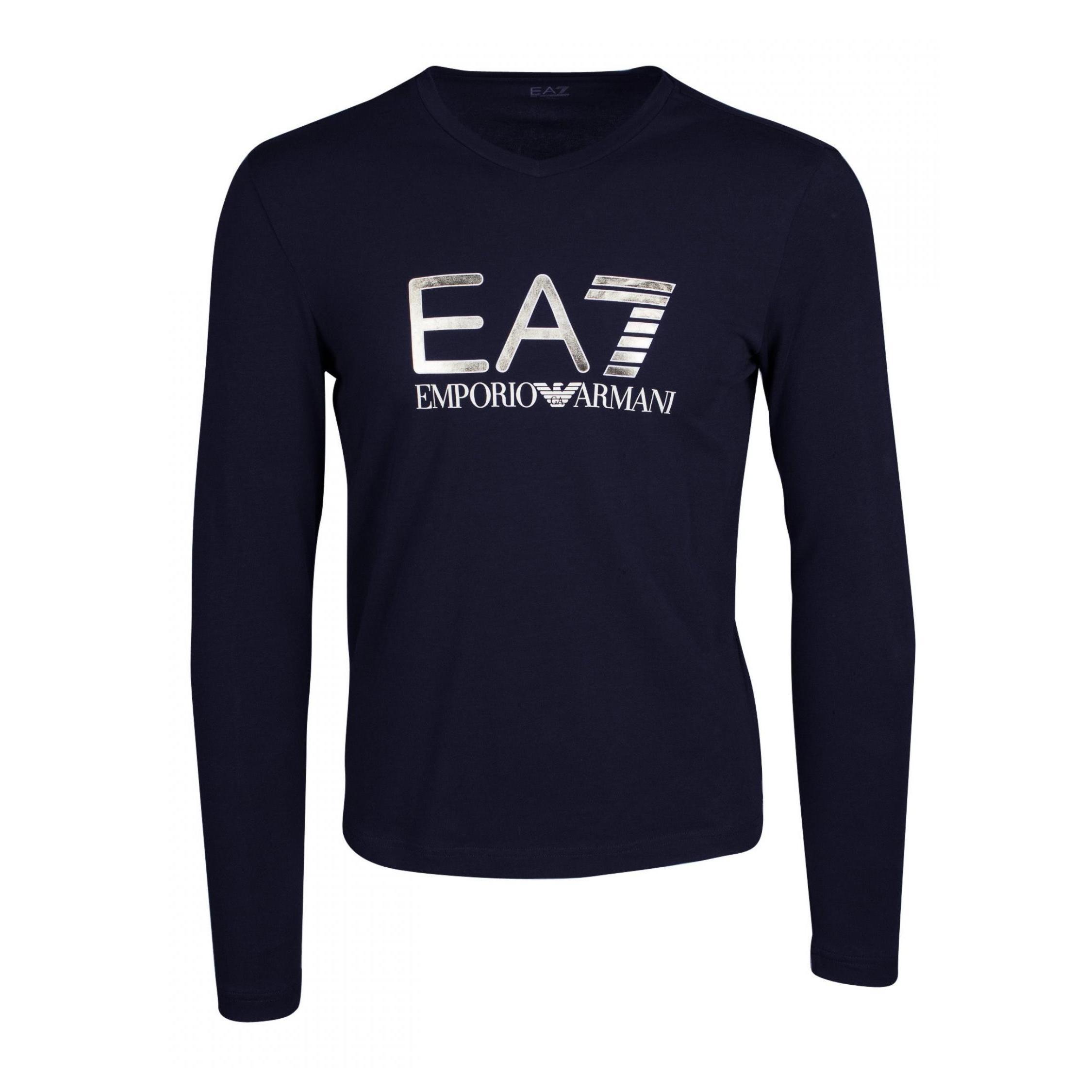Купить Футболка с длинным рукавом для активного отдыха EA7 Emporio Armani 2017-18 TRAIN VISIBILITY M TEE VN LS ST NIGHT BLUE, Одежда туристическая, 1369855