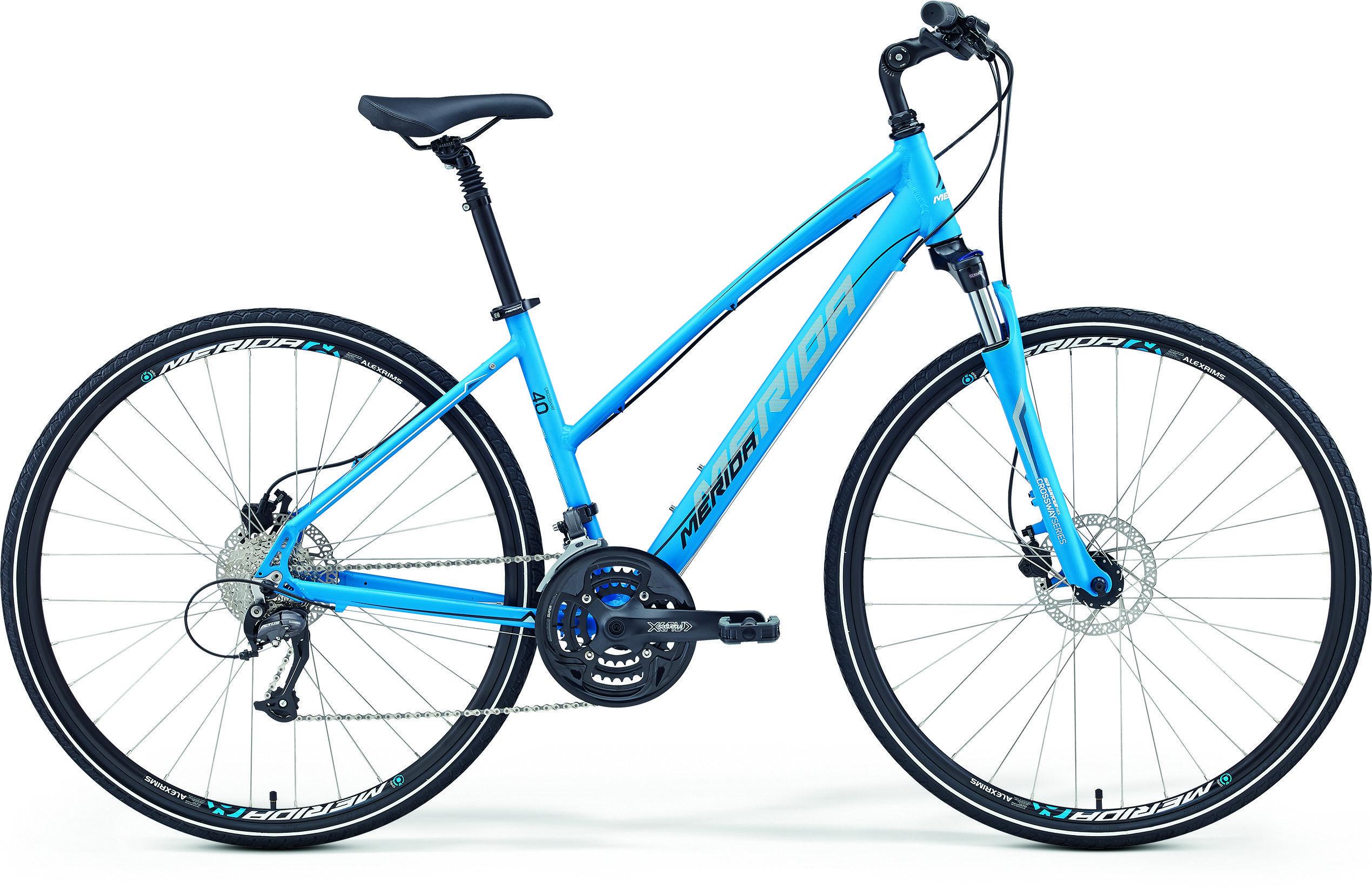 Велосипед Merida Crossway 40D-Lady 2017 Blue - White/black