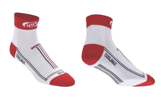 Купить Носки BBB TechnoFeet white red, Носки, 714588