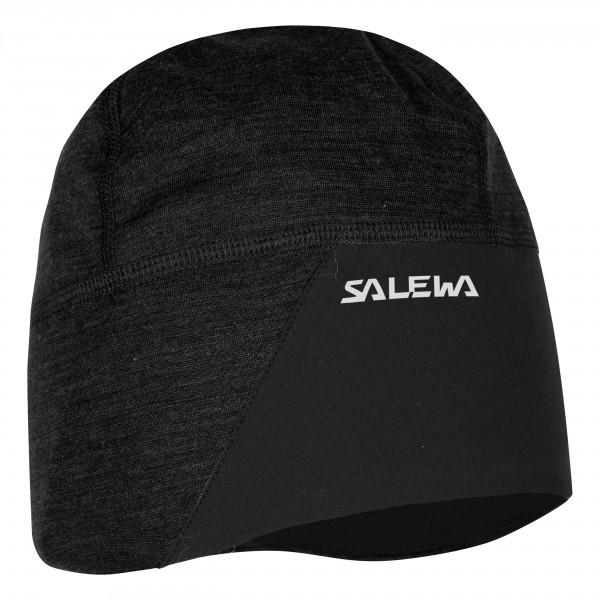 женская шапка salewa, черная