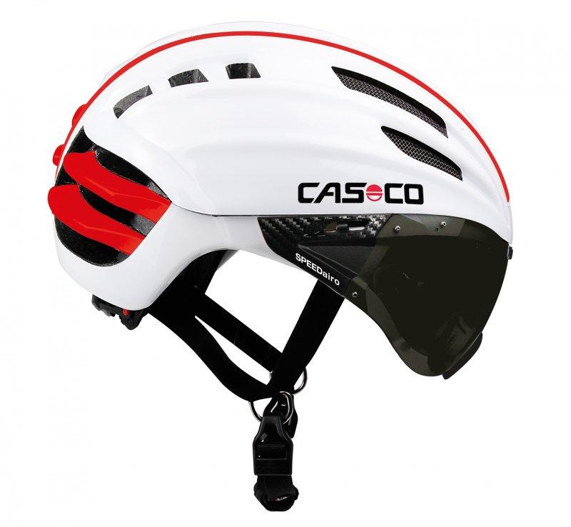 Летний Шлем Casco Sport Road Speedairo (Visor) White + Grey-Silver Mirror