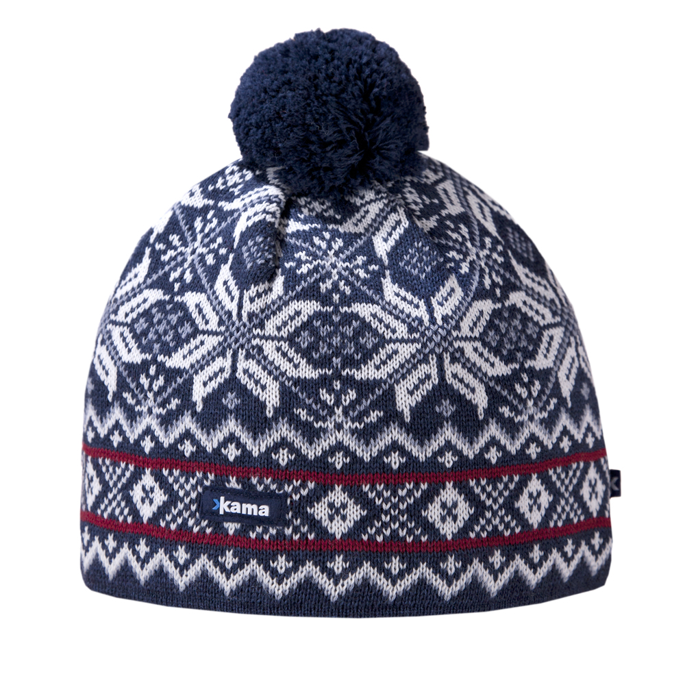 женская шапка kama, синяя