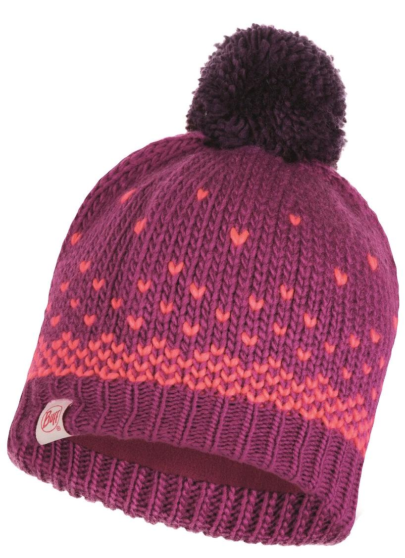 Шапка Buff Child Knitted & Polar Hat Hilda Purple Raspberry Child