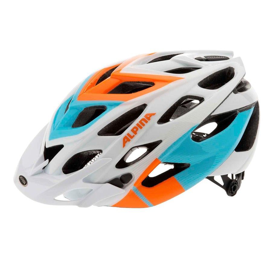 Летний шлем Alpina MTB D-Alto white-orange-blue, Шлемы велосипедные, 1179903  - купить со скидкой