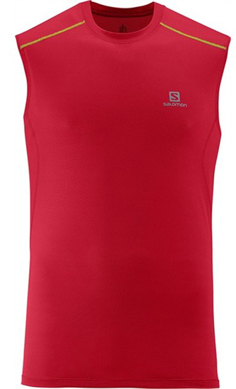 Купить Майка беговая SALOMON 2014 TRAIL RUNNER TANK M VICTORYRED Одежда для бега и фитнеса 1133636
