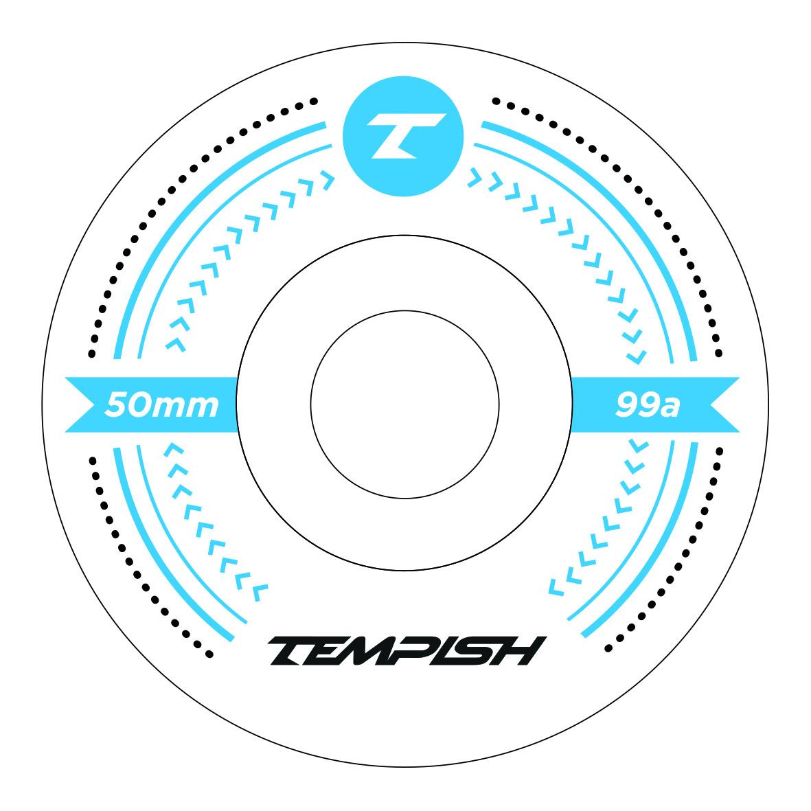 Колеса (4 Штуки) Для Скейтборда Tempish 2018 Lb 50X36 99A Blue
