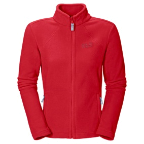 Флис для активного отдыха Jack Wolfskin 2015 Moonrise Jacket Women red fire