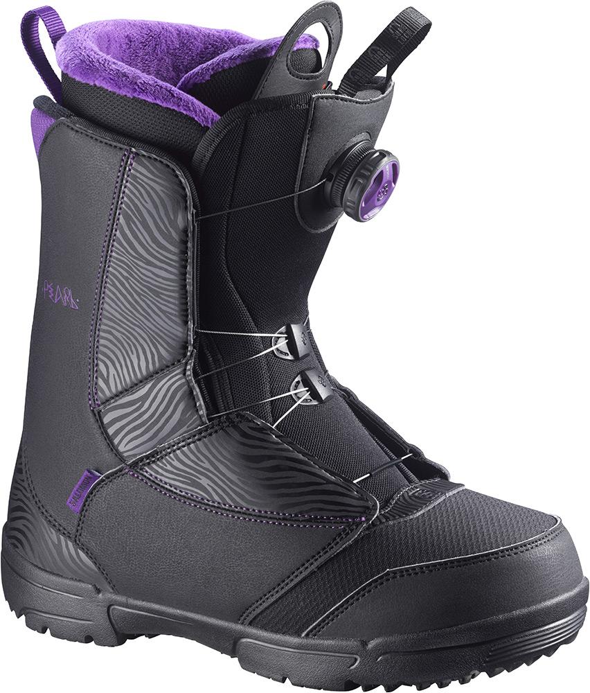 Ботинки для сноуборда SALOMON 2015-16 PEARL BOA BLACK GRJ BK ... 12481a96042