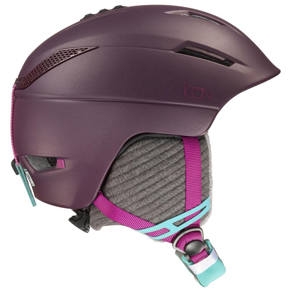 Купить Зимний Шлем SALOMON 2016-17 HELMET ICON Pinot Noir, Шлемы для горных лыж/сноубордов, 1287390