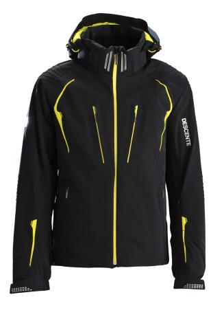 Купить Куртка горнолыжная DESCENTE 2014-15 Swiss WC BK/LMN, Одежда горнолыжная, 1139542