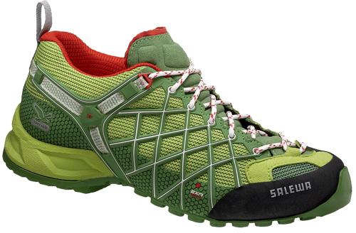 Купить Треккинговые кроссовки Salewa Tech Approach Womens WS WILD FIRE chlorophil - cactus Треккинговая обувь 896744