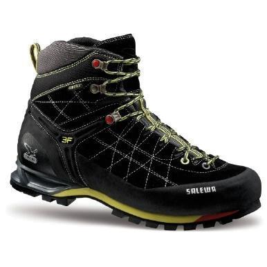 Купить Ботинки для альпинизма Salewa Alpine Approach Mens MS MTN TRAINER MID GTX black - smoke, Альпинистская обувь, 896456