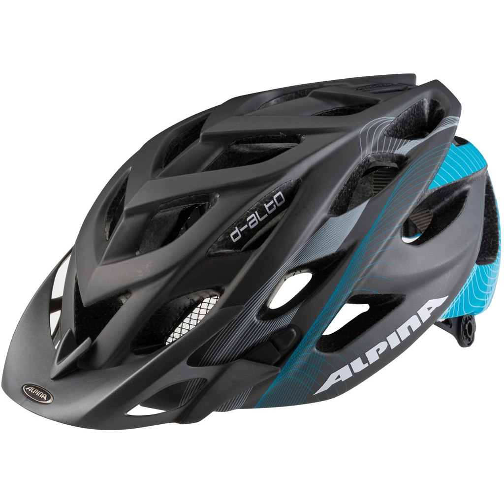 Купить Летний шлем Alpina MTB D-Alto LE titanium-cyan matt, Шлемы велосипедные, 1179891