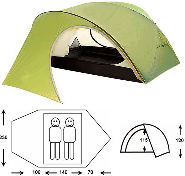 Купить Палатка Outdoor Project Proxima 2 Fg св.зеленый Туристические палатки 738211