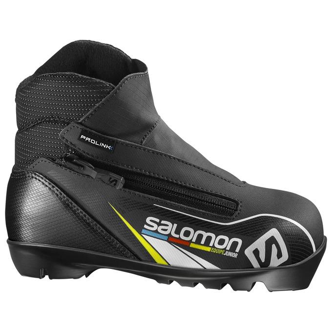 Купить Лыжные ботинки SALOMON 2017-18 EQUIPE JUNIOR PROLINK, ботинки, 1300498
