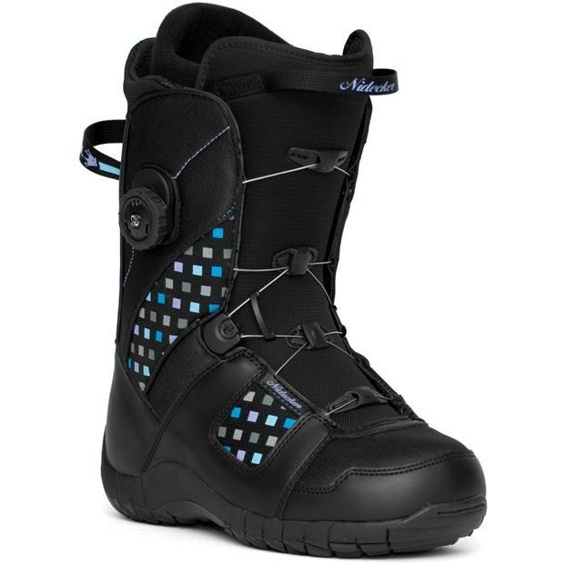 Купить Ботинки для сноуборда NIDECKER 2010-11 EVA BOA black-purple, сноуборда, 695517