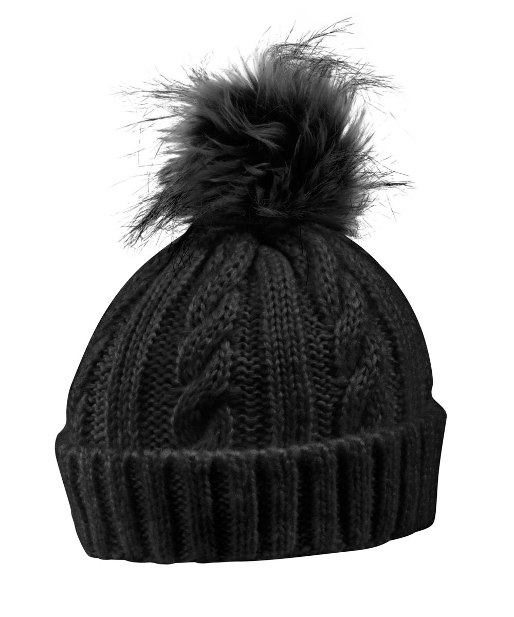 женская шапка maier, черная