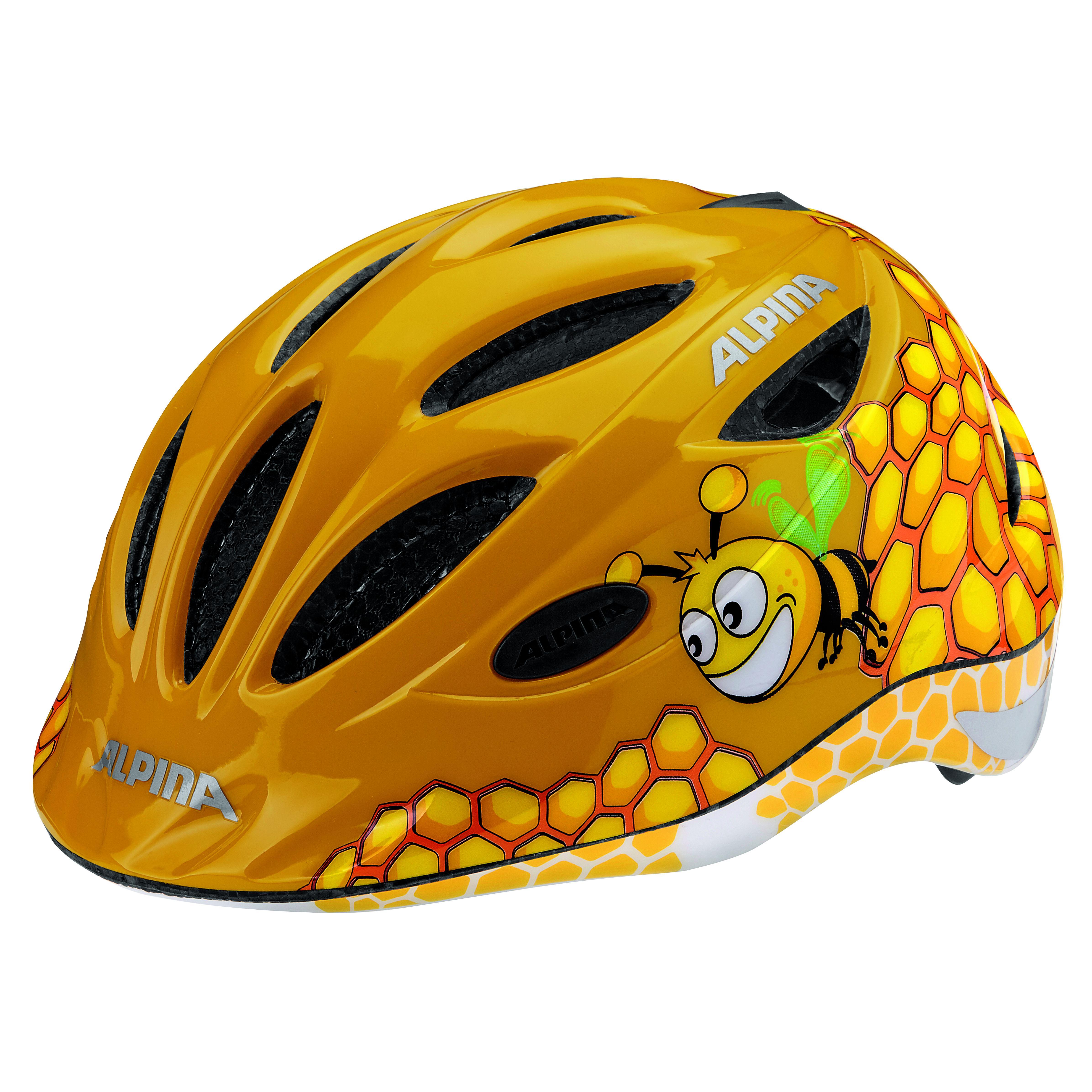 Велошлем Alpina 2018 Gamma 2.0 Flash Honey Bee