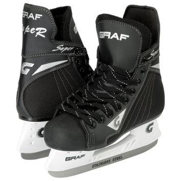 1c19a485f5ed Коньки хоккейные GRAF SUPER G black - купить в КАНТе