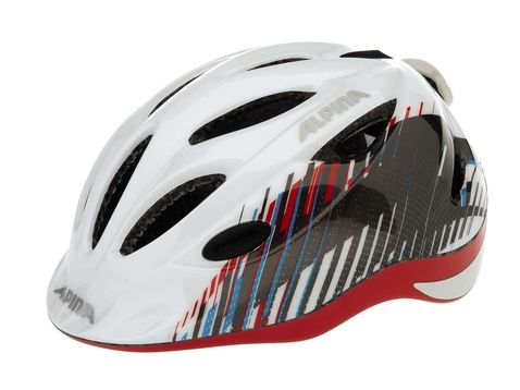 Купить Летний шлем Alpina JUNIOR / KIDS Gamma 2.0 Flash white-titan-red Шлемы велосипедные 1180141