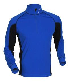 Купить Футболка с длинным рукавом беговая Bjorn Daehlie Top FINMARK (Skydiver/Black) синий/черный Одежда лыжная 710316