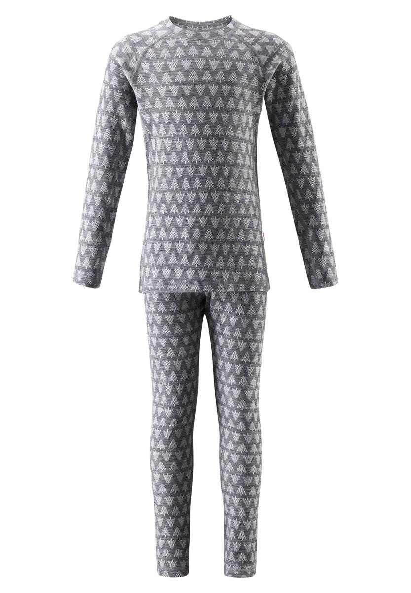Купить Комплект (футболка дл.рук. + брюки) Reima 2017-18 Taival Melange grey, Термобелье, 1351763