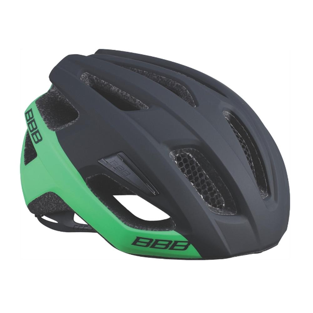 Купить Велошлем BBB 2018 Kite черный матовый/зелёный, Шлемы велосипедные, 1298119