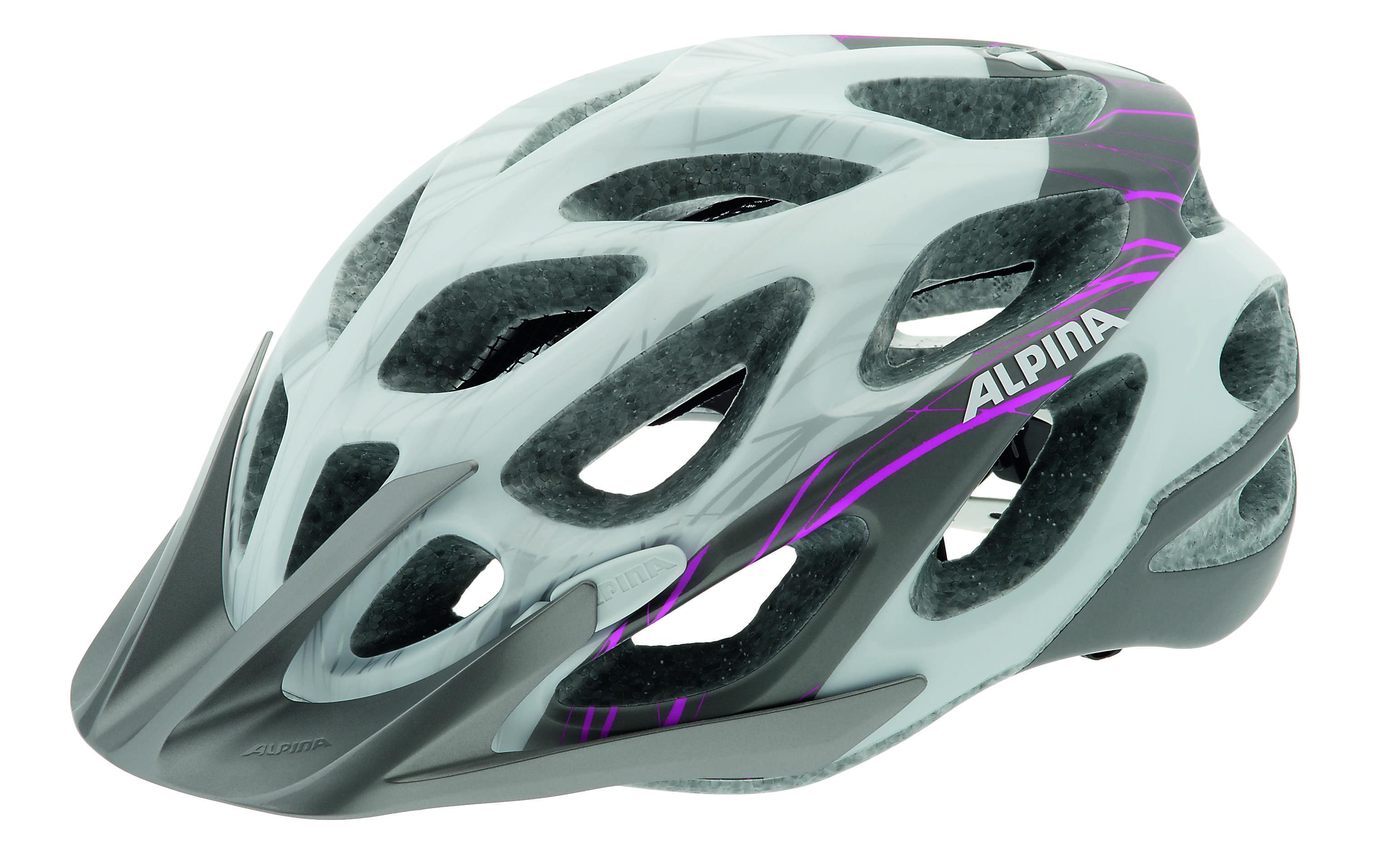 Летний шлем Alpina MTB Mythos 2.0 LE white-darksilver-pink, Шлемы велосипедные, 1179921  - купить со скидкой
