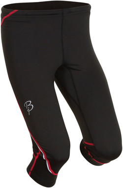 Купить Тайтсы беговые Bjorn Daehlie Tights STRIVE Mid Long Women (Black/Bright Rose) черный/красный Одежда для бега и фитнеса 669592
