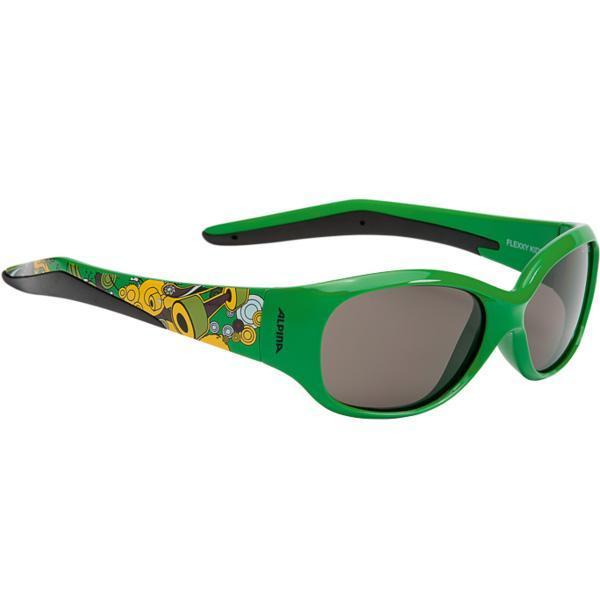 Купить Очки солнцезащитные Alpina JUNIOR / KIDS Flexxy Kids green print/black S3, солнцезащитные, 1131866