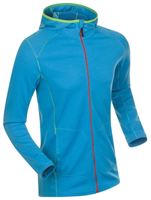 Купить Пуловер беговой Bjorn Daehlie Full Zip FREEDOM HOODY Hawaiian Ocean (голубой) Одежда лыжная 859350