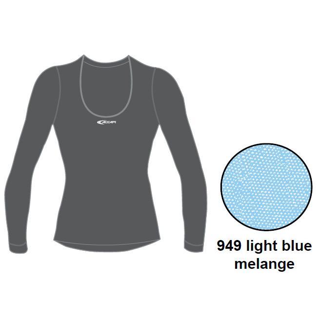 Футболка С Длинным Рукавом Accapi Tecnosoft Plus Long Sl.wide Neck T-Shirt Lady (Light Blue Mel) Синий