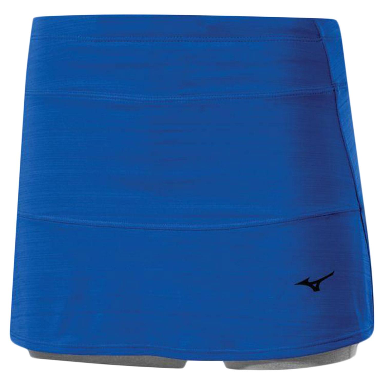 Юбка-Шорты Беговые Mizuno 2016 Active Skirt Голубой, женский, Одежда для бега и фитнеса  - купить со скидкой