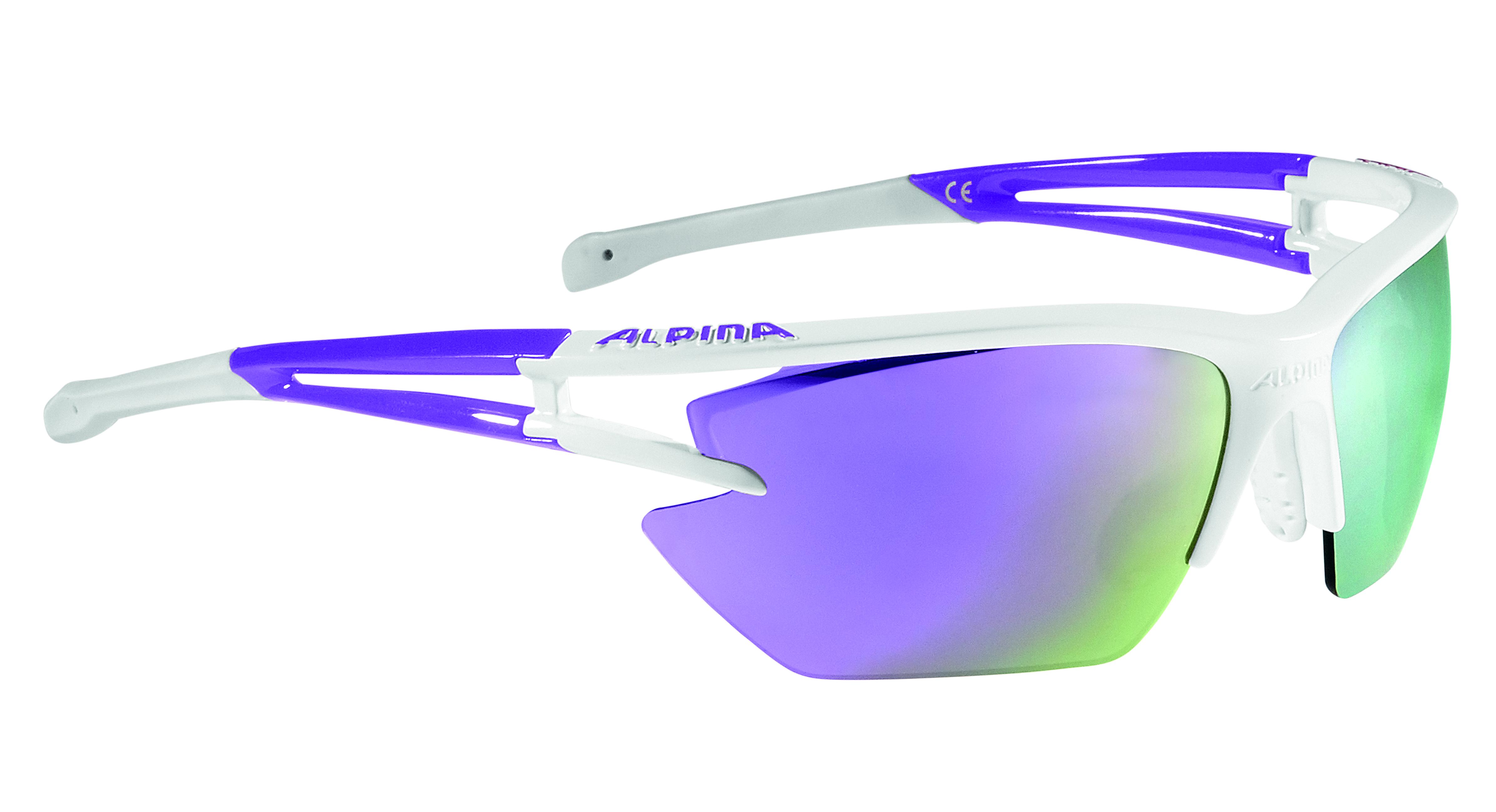 Купить Очки солнцезащитные Alpina 2018 ALPINA EYE-5 HR S CM+ white-purple, солнцезащитные, 1323646