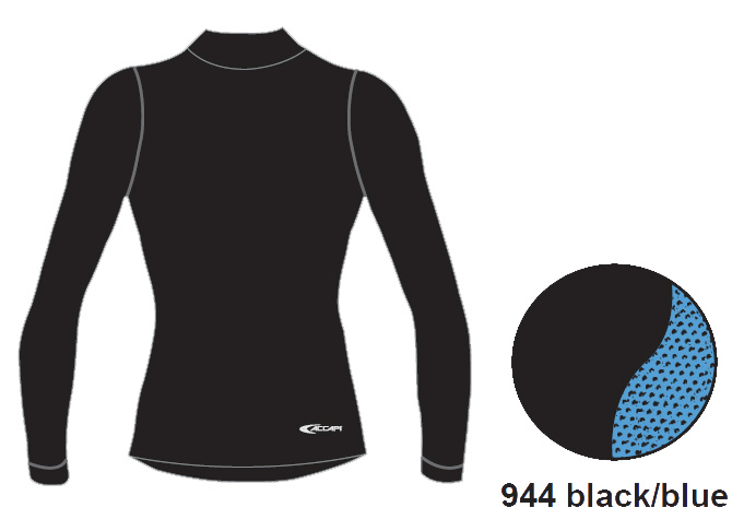 Купить Футболка С Дл. Рукавом, Футболка С Длинным Рукавом Accapi Polar Bear Heavy Weight Long Sleeve Shirt - Womens Black / Blue (), женский, Термобелье