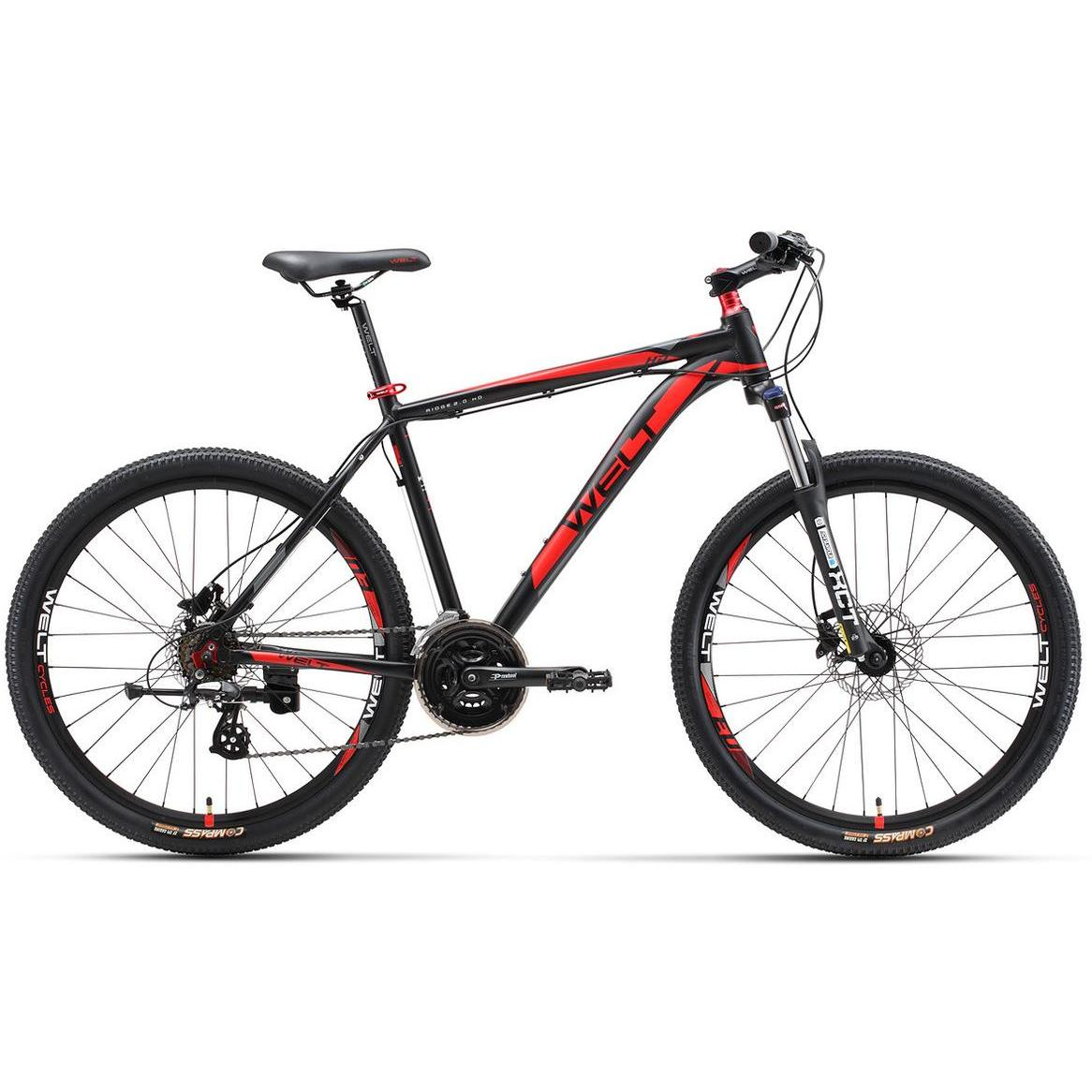 Велосипед Welt Ridge 2.0 Hd 2017 Matt Black/red
