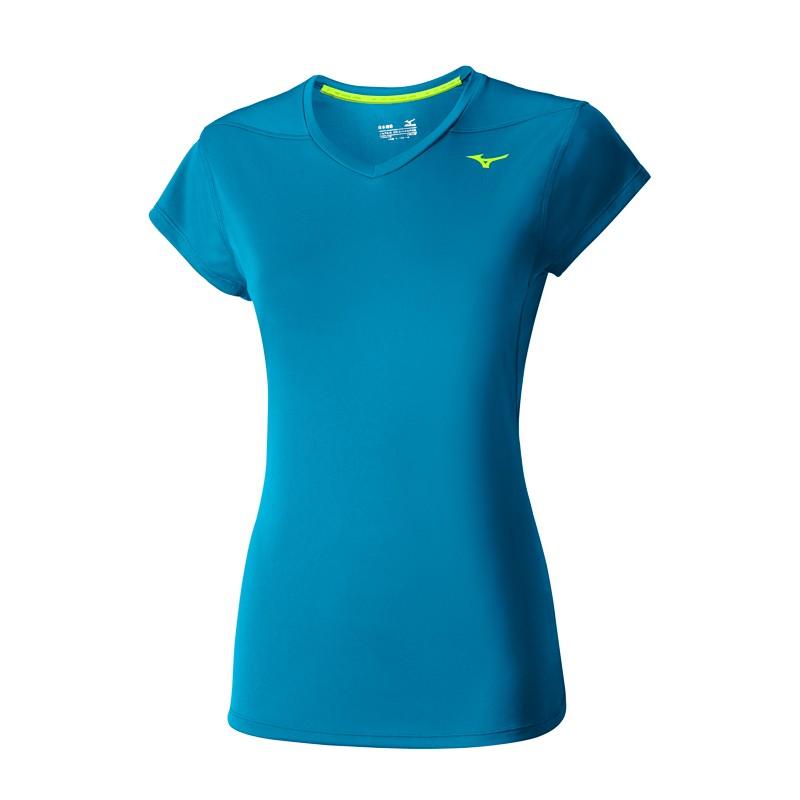 женская футболка mizuno, голубая