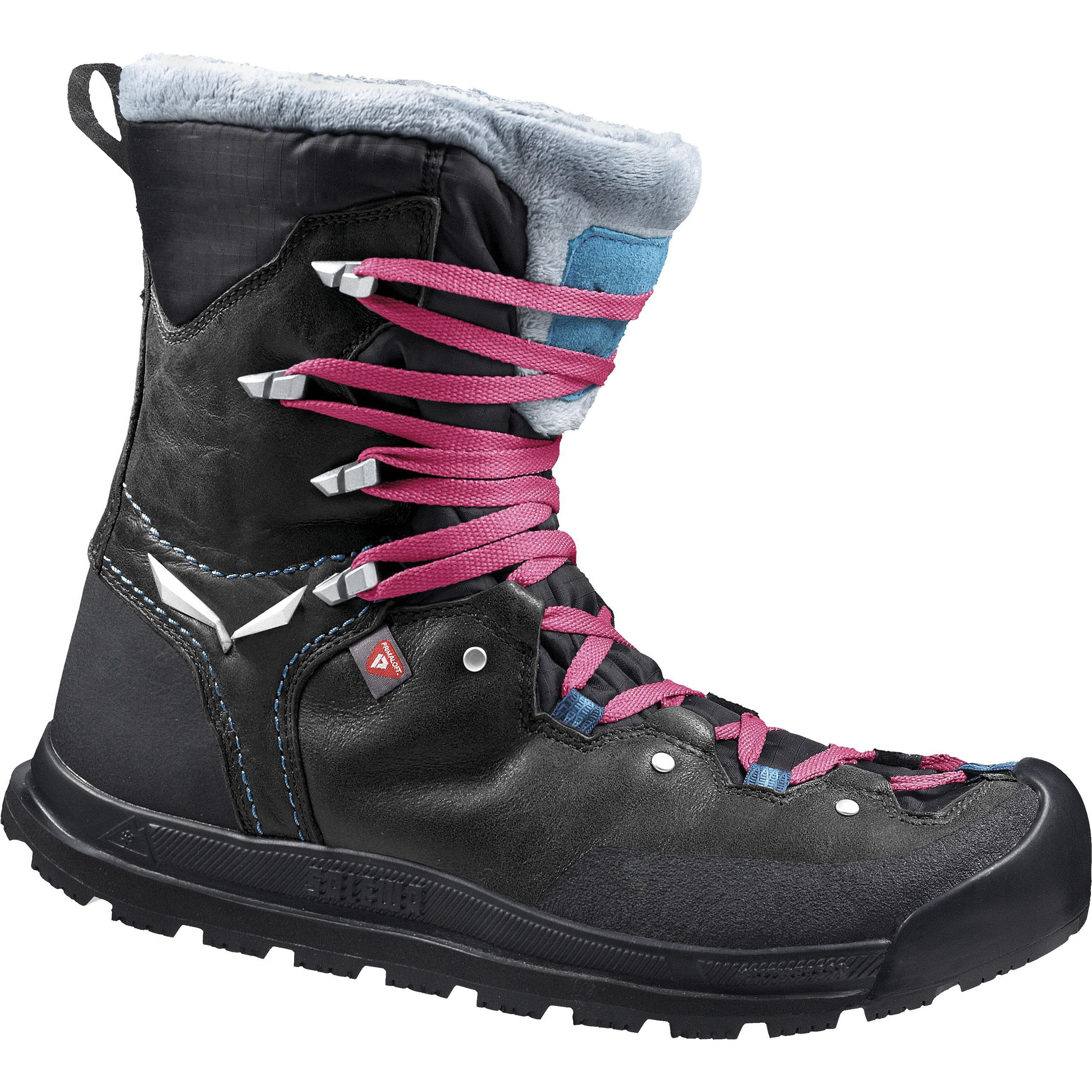 Купить Ботинки городские (высокие) Salewa 2017-18 WS SNOWCAP WP Black/Pagoda Зимняя обувь 1205757