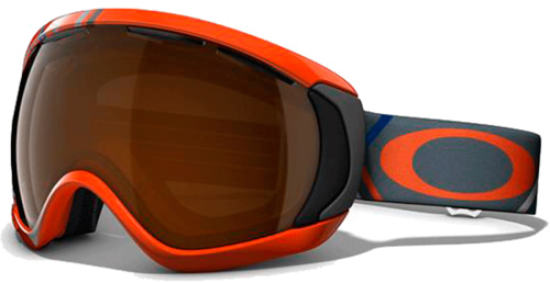 Очки горнолыжные Oakley Canopy Freedom Plaid Neon Fire w/Blk Iridium