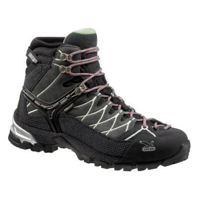 Купить Ботинки для треккинга (высокие) Salewa Hike Approach Womens WS ALPTRAINER MID GTX slate-mint, Треккинговая обувь, 896813