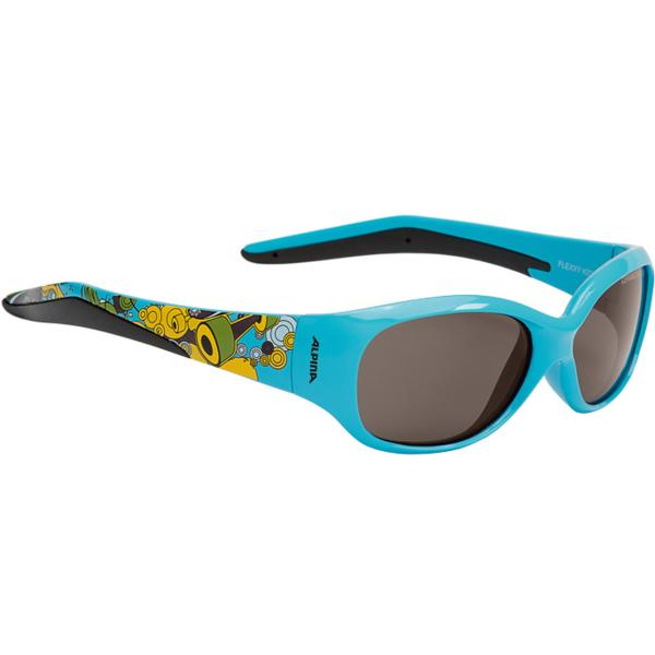 Купить Очки солнцезащитные Alpina JUNIOR / KIDS Flexxy Kids cyan print/black S3, солнцезащитные, 1131867