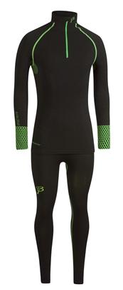 Купить Комплект беговой Bjorn Daehlie Racesuit QUEST 2-piece suit Women Black/Green Gecko (черный/т.зеленый) Одежда лыжная 858405