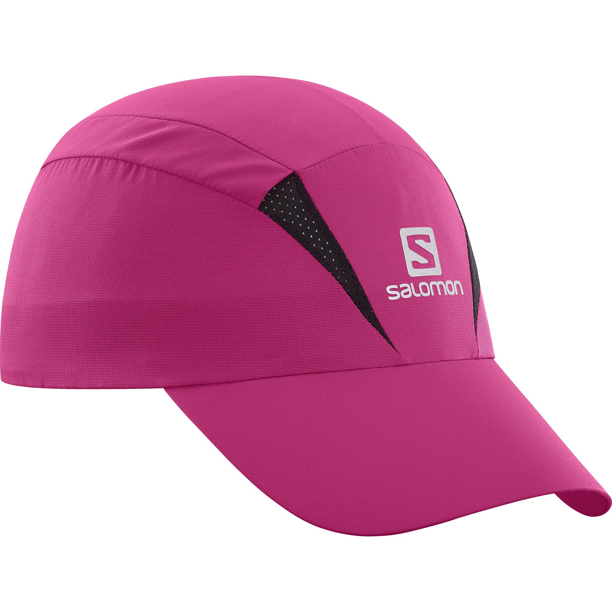 женская кепка salomon, розовая
