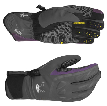 Купить Перчатки горные Salewa KONGUR PTX M GLV carbon (серый), Перчатки, варежки, 752684