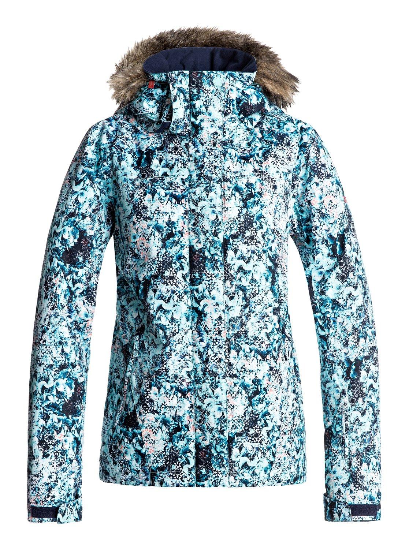 Купить Куртка сноубордическая ROXY 2017-18 JET SKI JK J SNJT BFK9 ARUBA BLUE_KALEIDOS FLOWERS, Одежда сноубордическая, 1360456