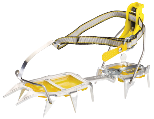 Купить Кошки Salewa Crampons ALUNAL 2.0 STEP-IN ANTIBOOT CRAMPON STEEL/YELLOW, альпинистские, 731120