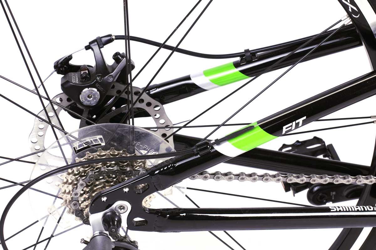 Велосипед Montague Fit 30 Speed 700C 2017 Глянцевый Черный С Зелеными Акцентами
