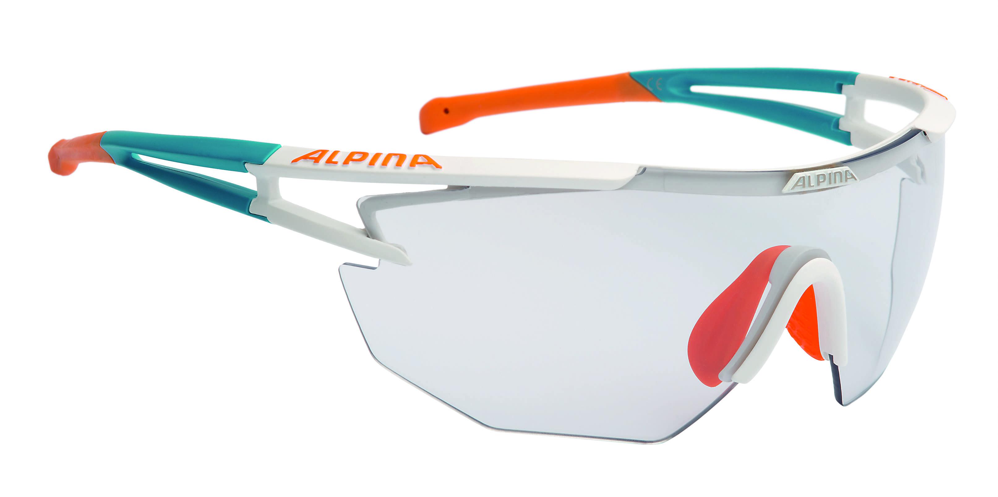 Купить Очки солнцезащитные Alpina PERFORMANCE ALPINA EYE-5 SHIELD VL+ weib matt-cyan-orange, солнцезащитные, 1180435