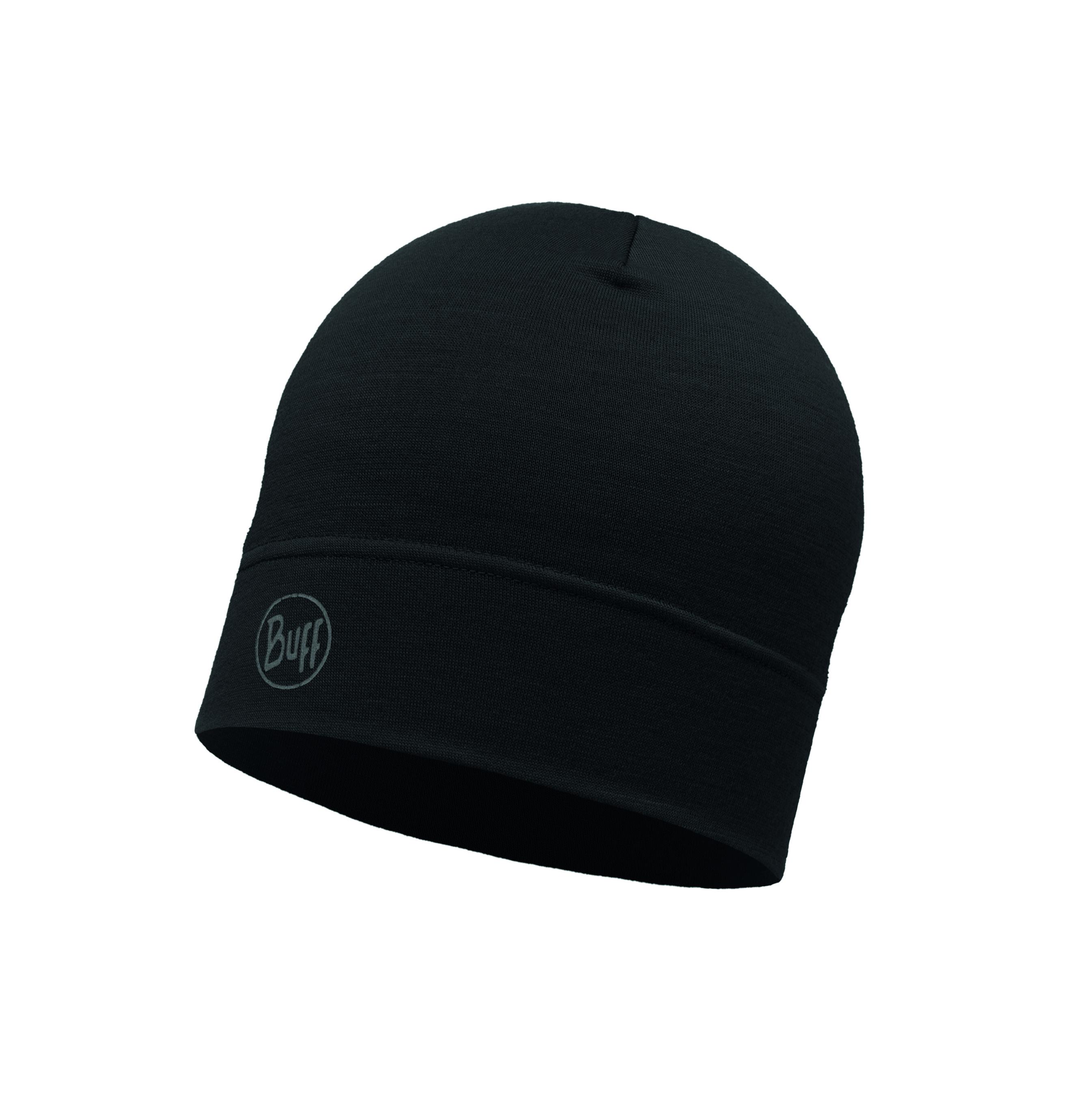 Купить Шапка BUFF MIDWEIGHT MERINO WOOL HAT SOLID BLACK, Аксессуары Buff ®, 1308057
